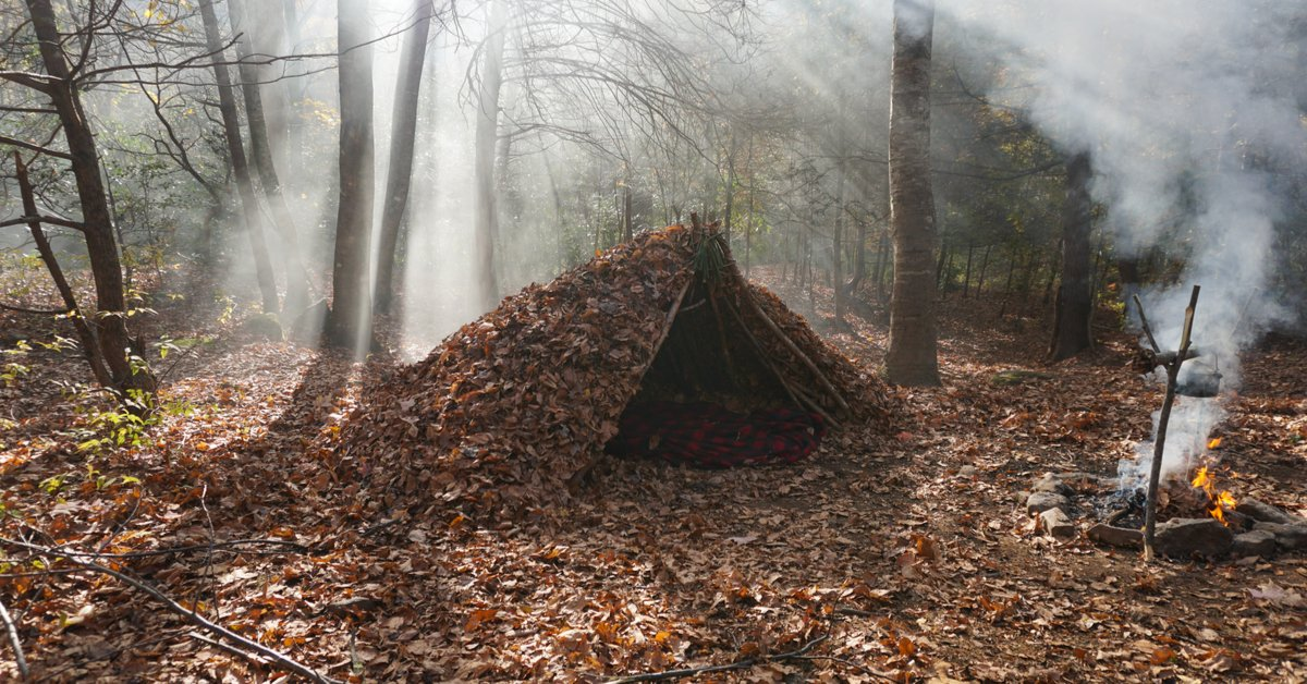 How To Build A Debris Hut Shelter